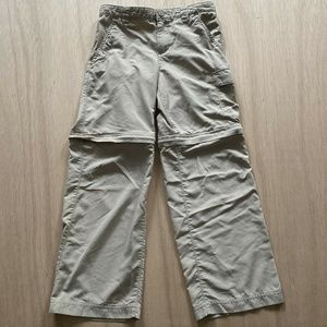 Columbia PFG Hiking Pants Zip Off To Shorts Kids